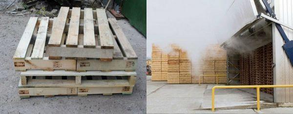 услуга фумигации деревянной тары