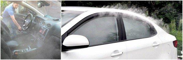сухой туман обработка автомобиля