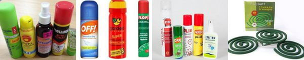 химические средства от комаров